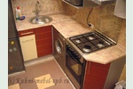Кухни - каталог фотографий: 5,6 кв.м. Sidak, МДФ очень маленькая кухня хрущевка