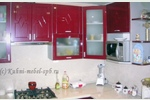 Кухня мдф Сидак, бордовый матовый