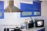Синяя кухня Sidak, МДФ стеновая панель