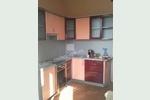 Бордово-персиковая кухня мдф