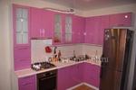 Кухня -лиловый металлик, в стиле модерн