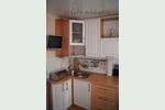 Кухня в корабль, фото МДФ кухни с пленочными фасадами бук и дуб белый