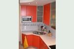 Кухня с фасадами Оранжевый МДФ, пластик с алюминиевыми рамами: Хай-Тек Санкт-Петербург, Спб