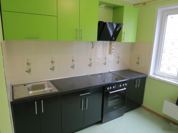 кухня черно-зеленая фото
