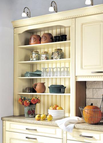 Открытые полки для кухни  прованс